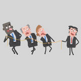 Business people pulling  a rope Royalty Free Stock Images