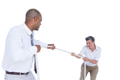 Business people pulling the rope Stock Photos