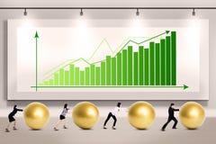 Business people push profit Stock Photography