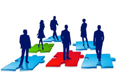 Business people puzzle Stock Photography