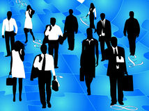 Business people and puzzle Stock Image
