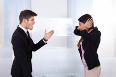 Business people quarreling Stock Photography