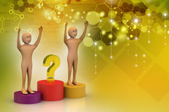 Business people with question mark Royalty Free Stock Images