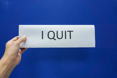 Business people quit from the job Royalty Free Stock Photo