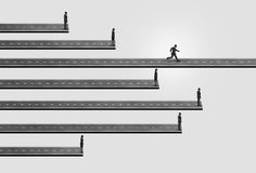 Business People Race stock illustration