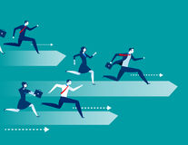 Business people race. Concept business illustration. Vector flat Stock Photos