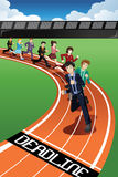 Business People Racing Against Time Stock Image