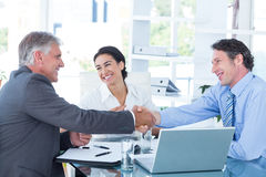 Business people reaching an agreement Stock Photography