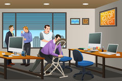 Business People Receiving a Massage Therapy in the Office Royalty Free Stock Photos