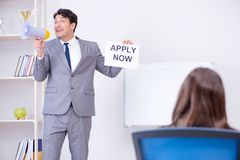 The business people in recruitment concept. Business people in recruitment concept Royalty Free Stock Images