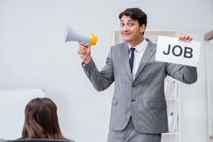 The business people in recruitment concept. Business people in recruitment concept Stock Image