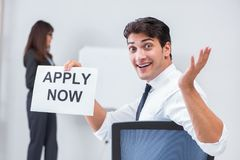 The business people in recruitment concept. Business people in recruitment concept Stock Photos