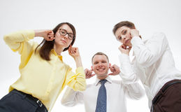 Business people refusing to listen somebody Stock Photography