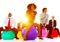 Business People Relaxation Playing Jumping Concept Royalty Free Stock Photo