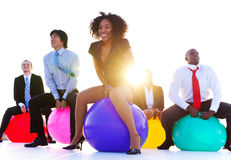 Business People Relaxing and Having Fun.  Royalty Free Stock Photos