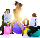 Business People Relaxing and Having Fun Royalty Free Stock Photo
