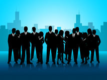 Business People Represents Cooperation Corporate And Meeting Stock Photos