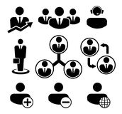 Business people and resources icons. Business people and resources. Vector icon set Royalty Free Stock Photo