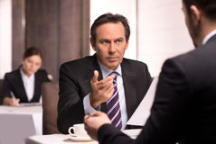 Business people at the restaurant. Stock Photo