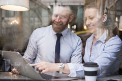 Business people at restaurant Stock Images