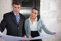 Business people Reviewing Business Plan stock image