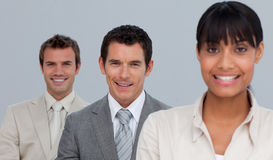 Business people in a row Stock Image