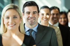 Business people row. Group of modern business people in a row royalty free stock image