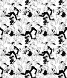 Business people run active carrier black and white seamless pattern. Monochrome vector illustration. EPS8 Stock Photos