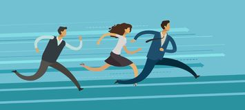 Business people run. Competition, rivalry, goal achievement concept. Vector illustration. Business people run. competition, rivalry, goal achievement concept royalty free illustration