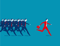 Business people running. Concept business illustration. Vector flat Stock Photos