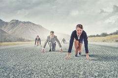 Business people running race Stock Image