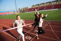 Business people running on racing track Royalty Free Stock Image