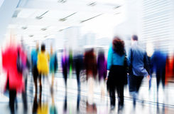 Business People Rush Hour Walking Commuting City Concept.  Stock Photo