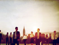Business People Rush Hour Walking Commuting City Concept Royalty Free Stock Photography