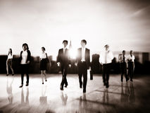 Business People Rush Hour Walking Commuting City Concept.  Stock Images