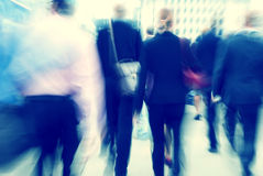 Business People Rush Hour Walking Concepts Royalty Free Stock Photography