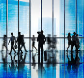Business People Rush Hour Walking Office Concepts Royalty Free Stock Photography