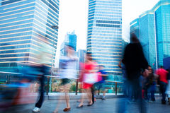 Business people rushing on the street Royalty Free Stock Image