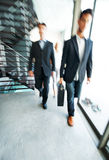 Business people rushing to office in hurry Stock Photography