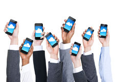 Business People's Hands Holding Digital Devices Stock Photos