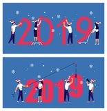 Building a numbers 2019 stock illustration