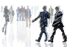 Business people scribble Royalty Free Stock Image