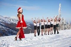Business people selebrating christmas corporate Stock Image