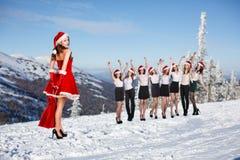 Business people selebrating christmas corporate Stock Photo