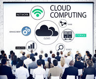 Business People in a Seminar About Cloud Computing. Diverse Business People in a Seminar About Cloud Computing Stock Photography