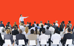 Business People Seminar Conference Meeting Presentation Concept Royalty Free Stock Image