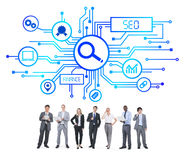 Business People and SEO Concepts Royalty Free Stock Image