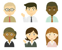 Business People Set Stock Images