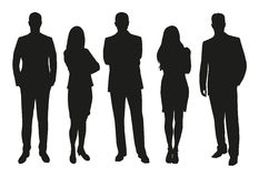 Free Business People, Set Of Silhouettes Stock Image - 66338731