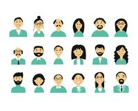Business people, set of simple icons for ypur design Stock Image